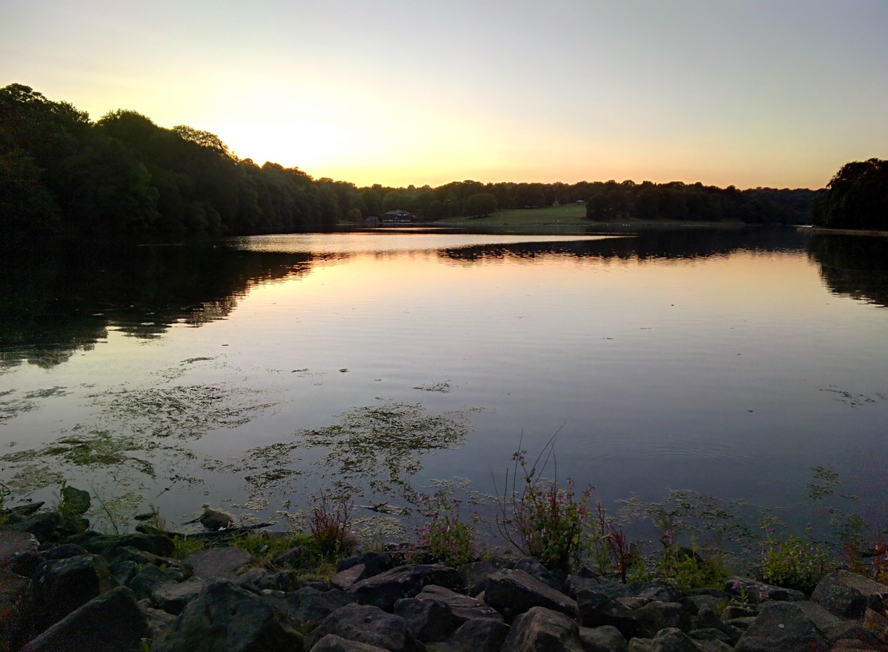 Sunset at Roundhay Lake